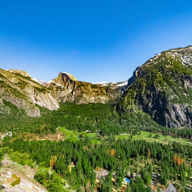 """Scenic image looking down into Yosemite Valley"" stock image"