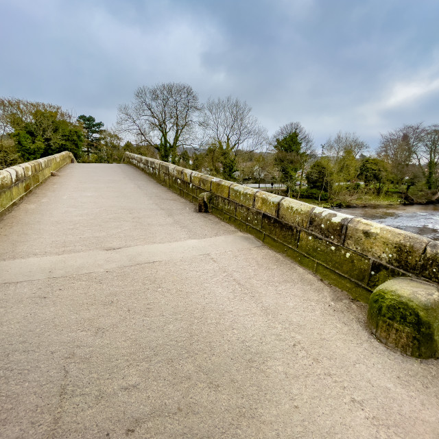 """Packhorse Bridge, Ilkley, Yorkshire."" stock image"