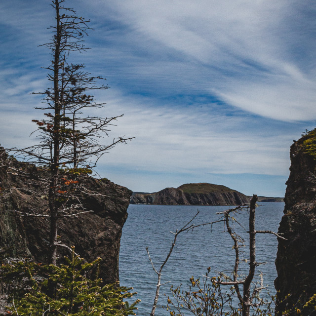 """""""Skerwink Trail View"""" stock image"""