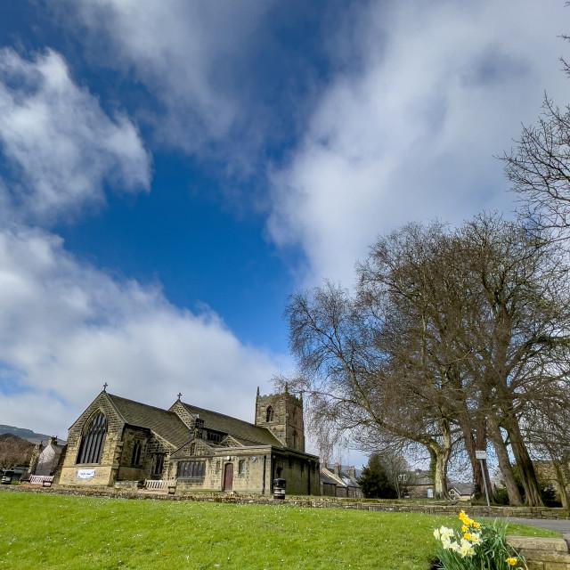 """All Saints Parish Church, Ilkley"" stock image"