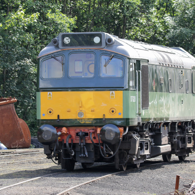"""""""D7628 at Grosmont"""" stock image"""