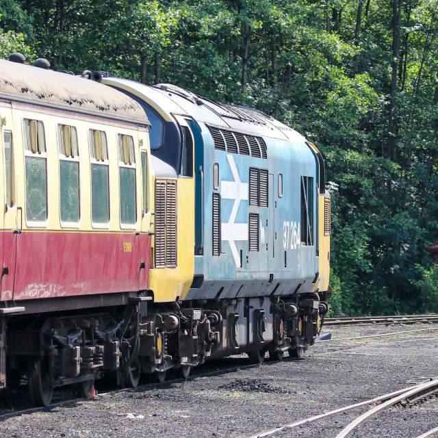 """""""37264 at Grosmont"""" stock image"""