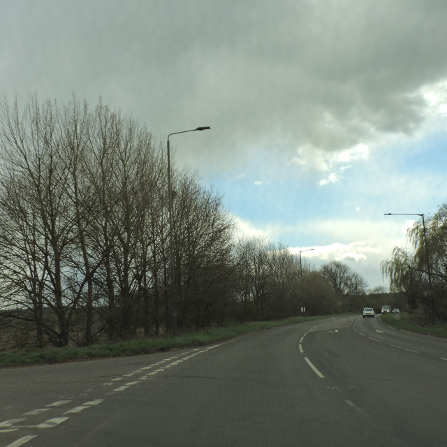 """""""A515, Derbyshire, April 2021"""" stock image"""