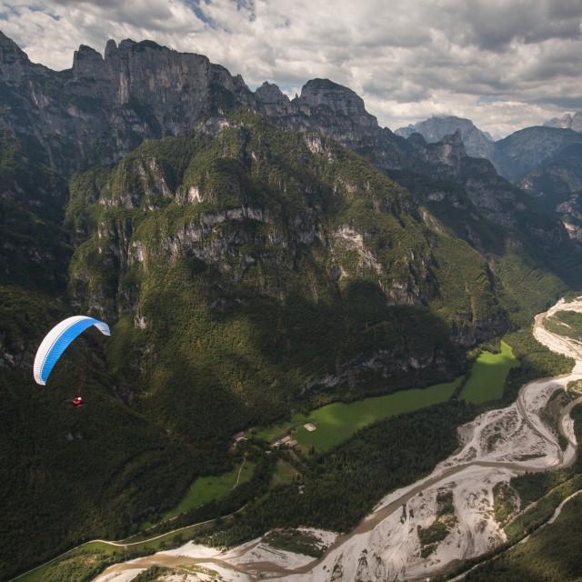 """Torrente Cordevole, Italian Dolomites"" stock image"