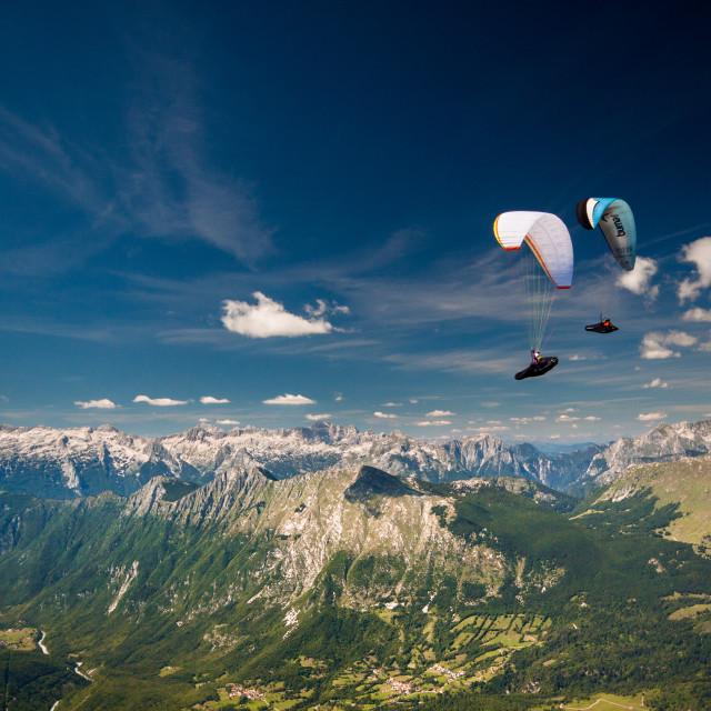 """Summer in the Soča - Julian Alps, Slovenia"" stock image"