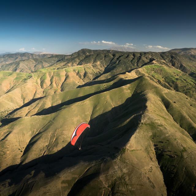 """Soaring the Atlas - Morocco"" stock image"