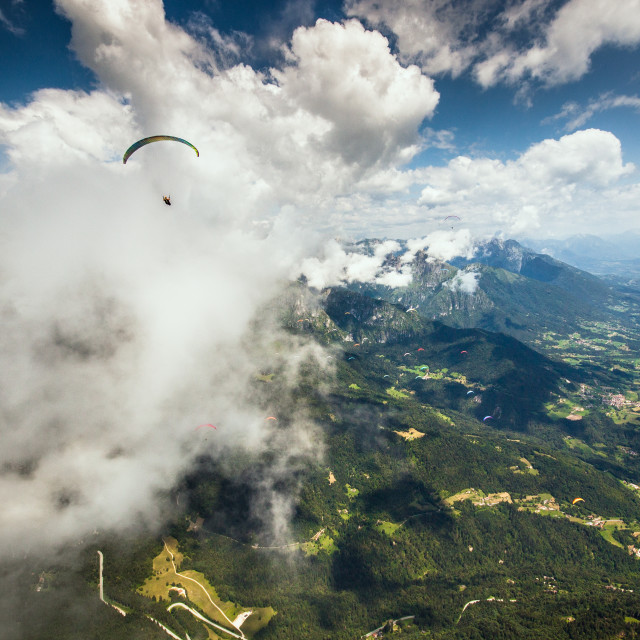 """""""Cloud surfing"""" stock image"""