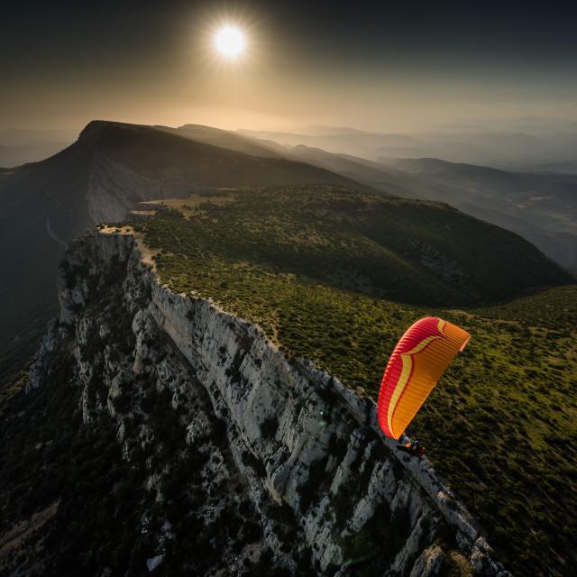 """Last Light - Mont Sec, Ager, Spain"" stock image"