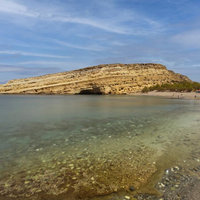 """Matala Cove Beach"" stock image"