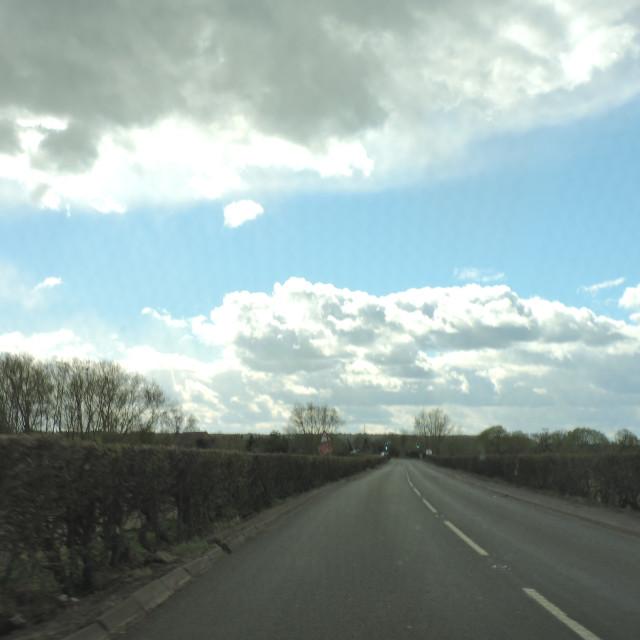"""Cloudy Sky, Derbyshire, April 2021"" stock image"