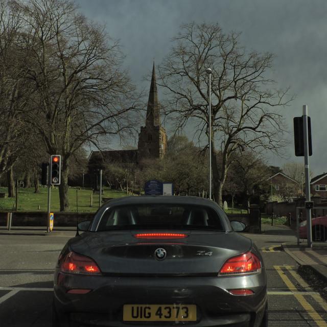 """Lichfield, Staffordshire, Street View, April 2021"" stock image"