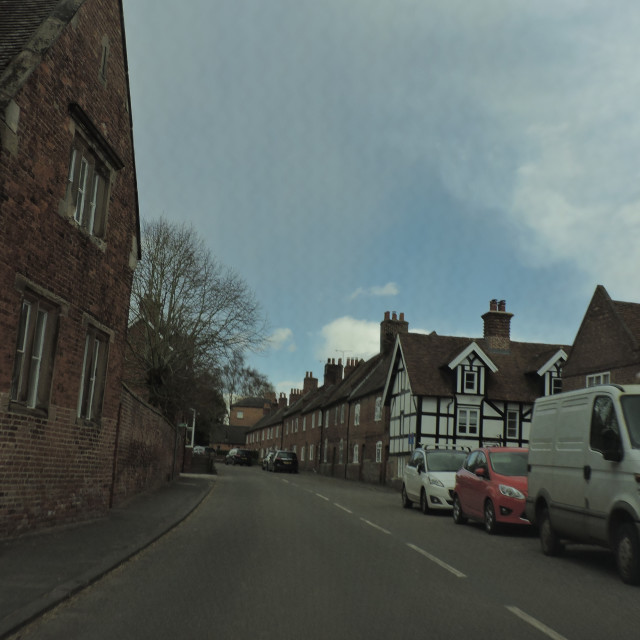 """Sudbury Village, Street View, Derbyshire Dales, April 2021"" stock image"