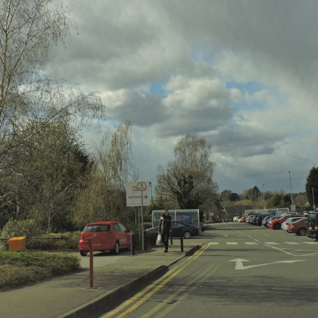 """Tesco, Lichfield, Staffordshire, Street View, April 2021"" stock image"
