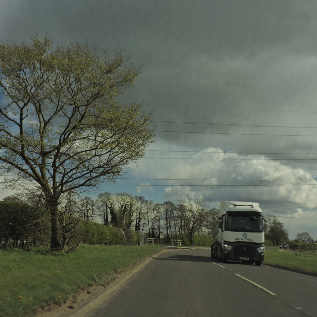 """Truck, A515, Lichfield, Staffordshire, April 2021"" stock image"