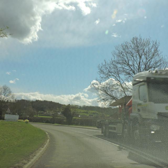 """HGV Truck, A515, Derbyshire, April 2021"" stock image"