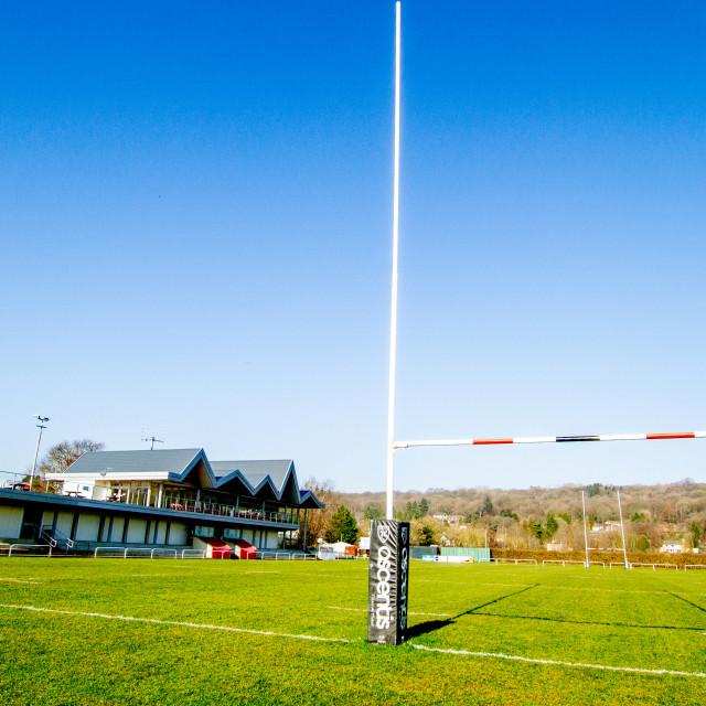 """Ilkley Rugby Club, RFC."" stock image"