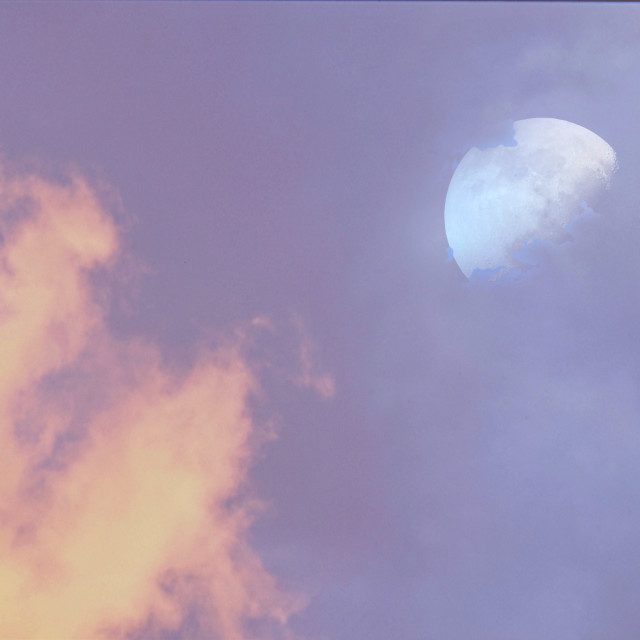 """""""Clouds with Moon"""" stock image"""