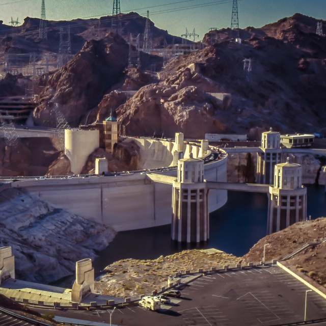 """""""Hoover Dam Complex"""" stock image"""