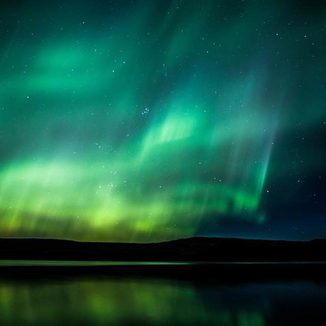 """Magic of the Aurora, Iceland"" stock image"