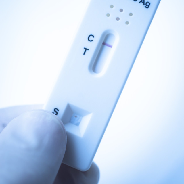 """Covid 19 rapid test result"" stock image"