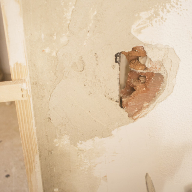 """Building renovation works in appartment"" stock image"