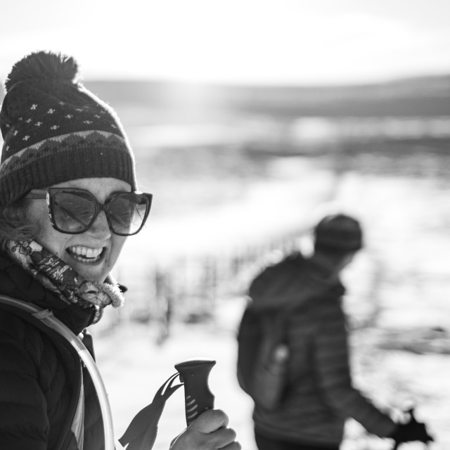 """Snow Walk"" stock image"