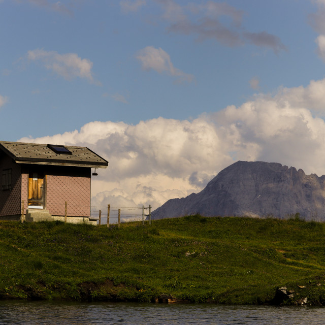 """""""Walden - the house at Bachalpsee"""" stock image"""