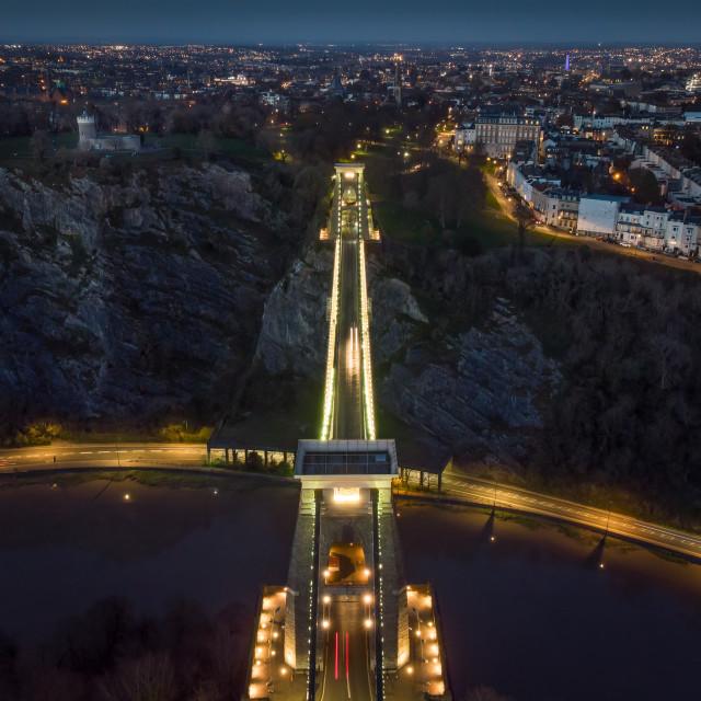 """Bridge from Above"" stock image"
