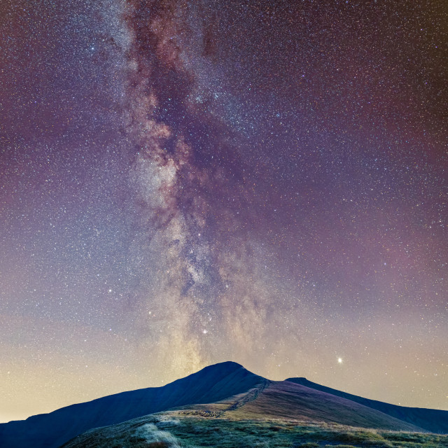"""""""Pen Y Fan Milky Way"""" stock image"""