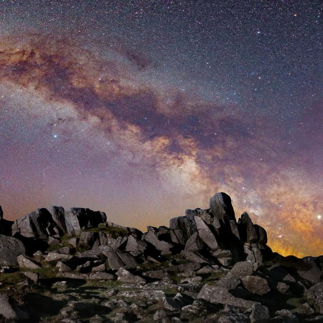 """Higher Tor Milky Way"" stock image"