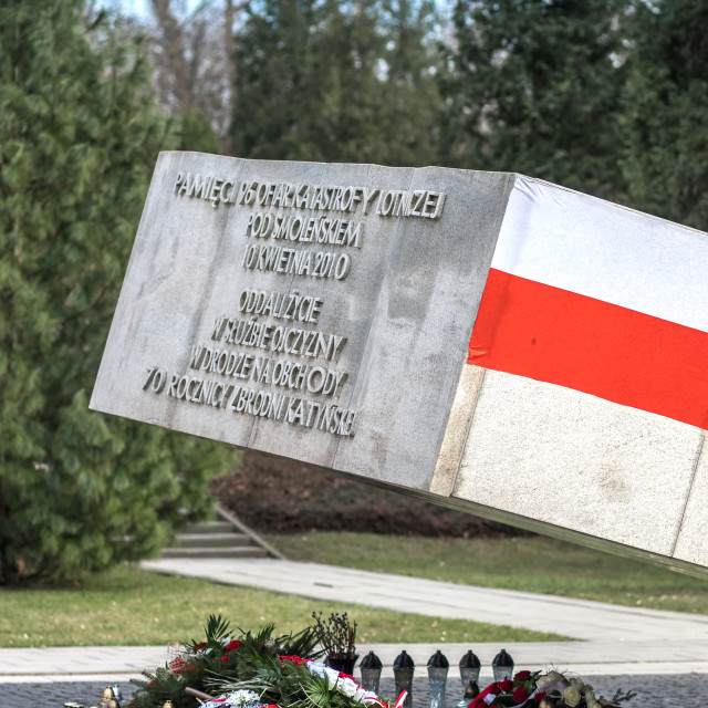 """""""Monument to the Victims of Smolensk Crash 2010"""" stock image"""