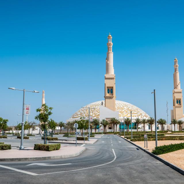 """Sheikh Khalifa Bin Zayed mosque in Al Ain city of the Abu Dhabi"" stock image"