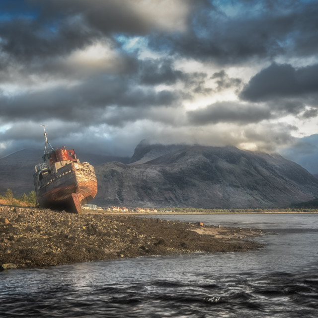 """""""The Corpach Shipwreck"""" stock image"""