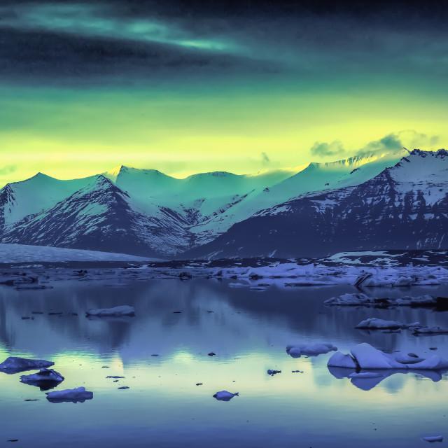 """Ice Lagoon Iceland"" stock image"