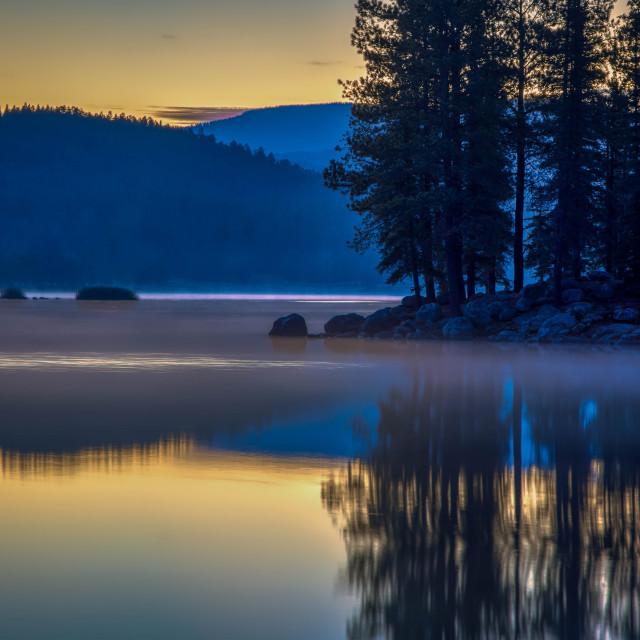 """""""vacation-travel-lake-sunrise-arizona"""" stock image"""