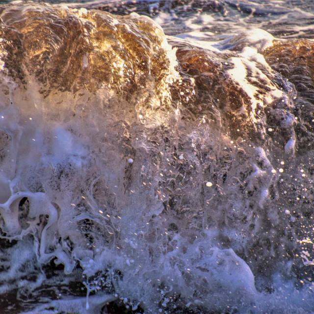 """Crystal Sunset Waves"" stock image"