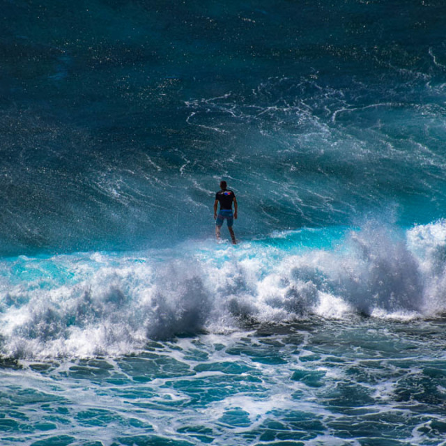 """""""The Brave Surfer"""" stock image"""
