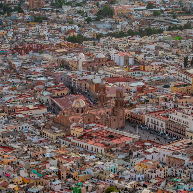 """An aerial view of Zacatecas City, Mexico"" stock image"