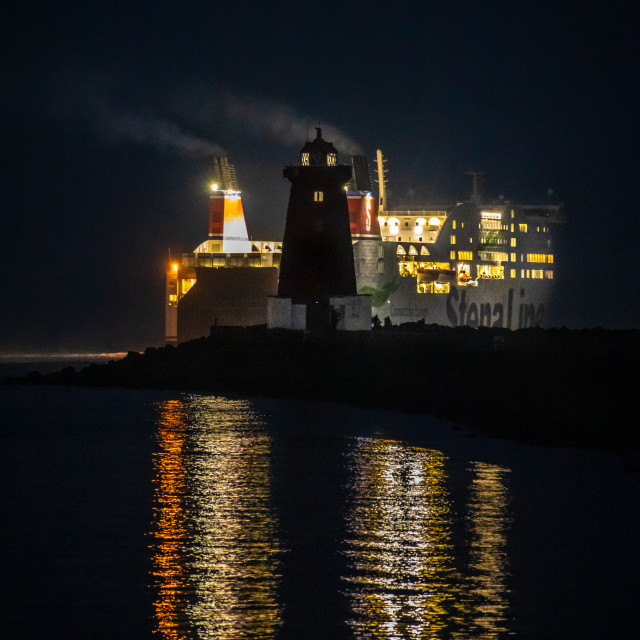 """""""Poolbeg Lighthouse"""" stock image"""