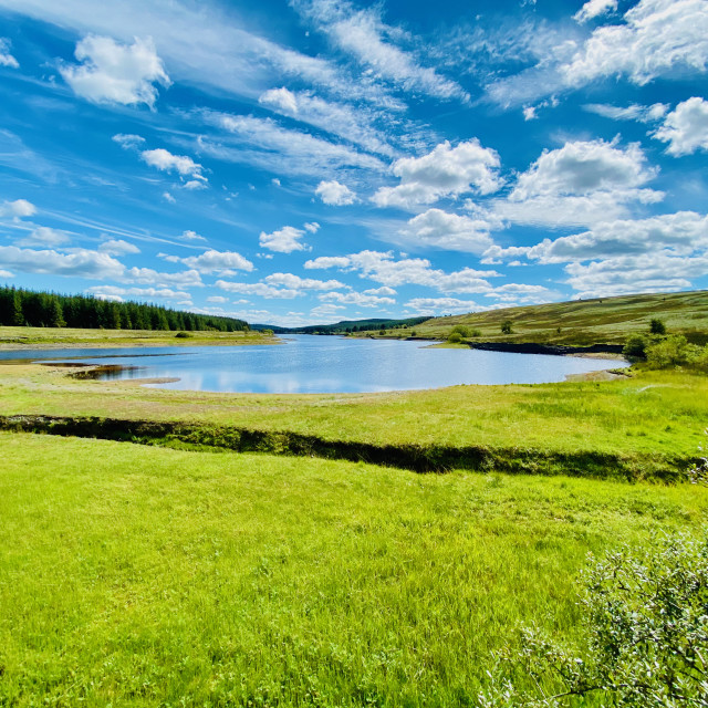 """Alwen Reservoir, North Wales"" stock image"