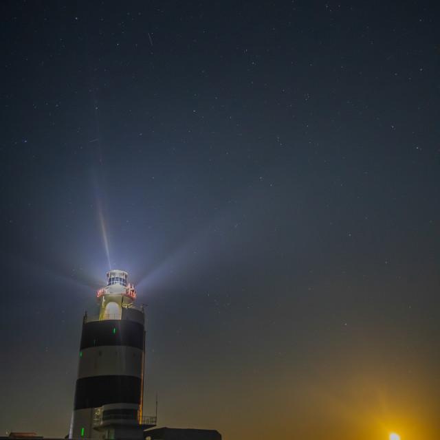 """Hook Lighthouse Starry Night"" stock image"