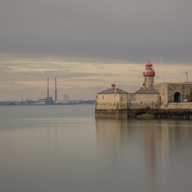 """""""East Pier Lighthouse Dun Laoghaire"""" stock image"""