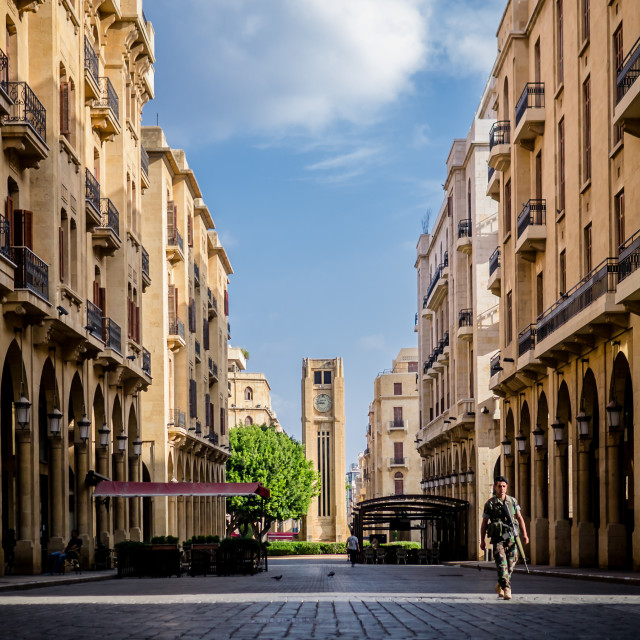 """Downtown Beirut"" stock image"