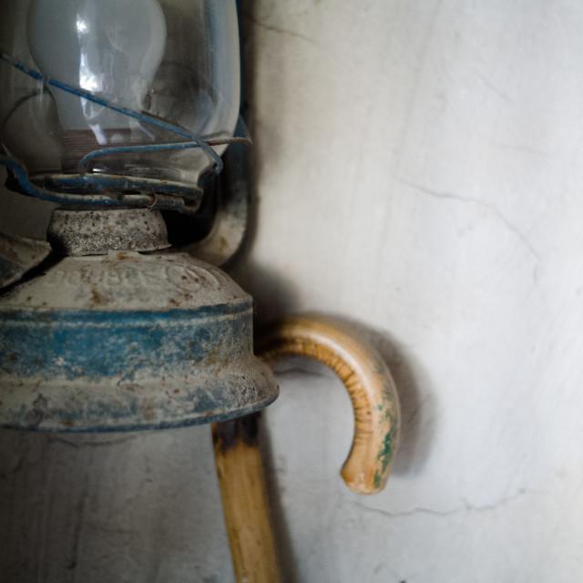"""""""Lantern and cane"""" stock image"""