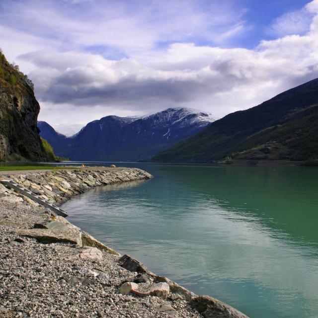 """Sognafjord"" stock image"