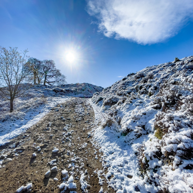 """Path, Trail over Ilkley Moor"" stock image"