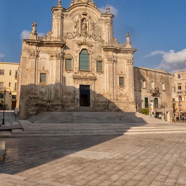 """""""St. Giovanni Battista Church, Matera"""" stock image"""