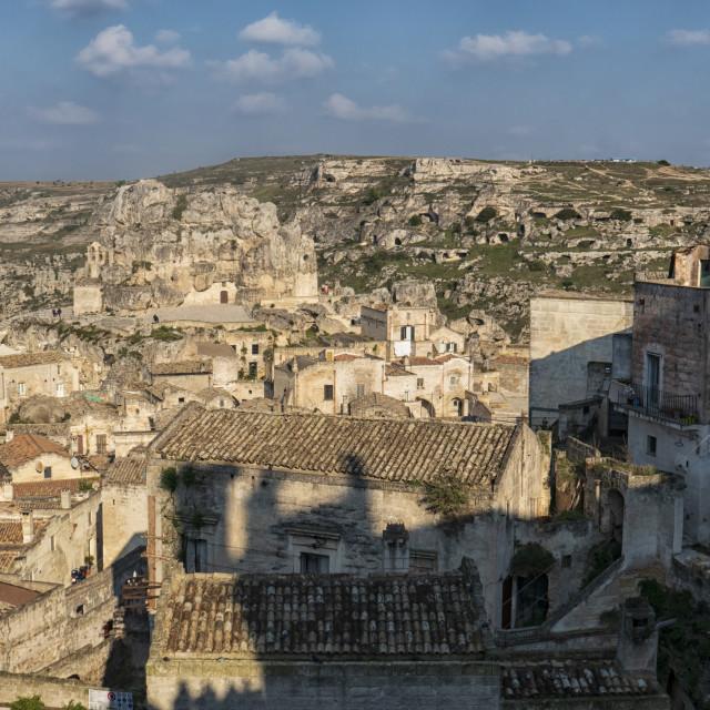 """Caves near Matera in Puglia, Italy"" stock image"