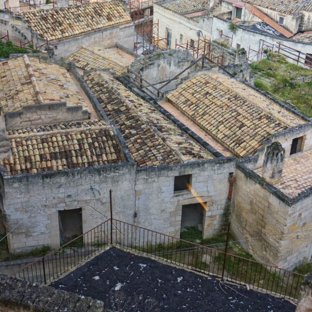 """Buildings in Matera Puglia, Italy"" stock image"