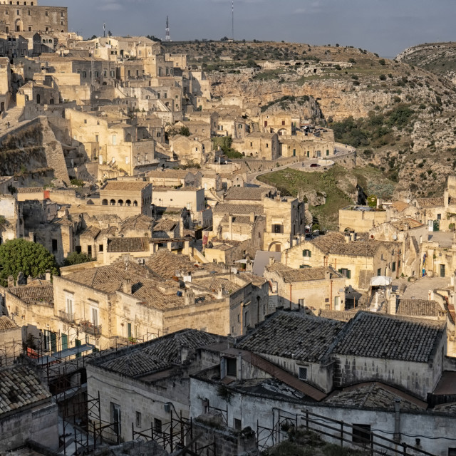 """""""Matera cave town in Puglia, Italy"""" stock image"""
